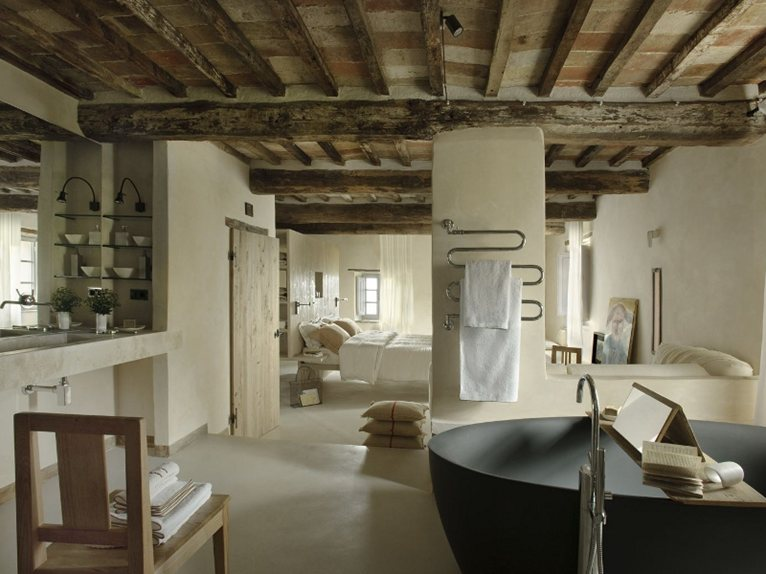 One Of The Villas Has Been Converted Into A Hotel By Interior Designer Ilaria Miani Who Made Typical Elements Tuscan Country House