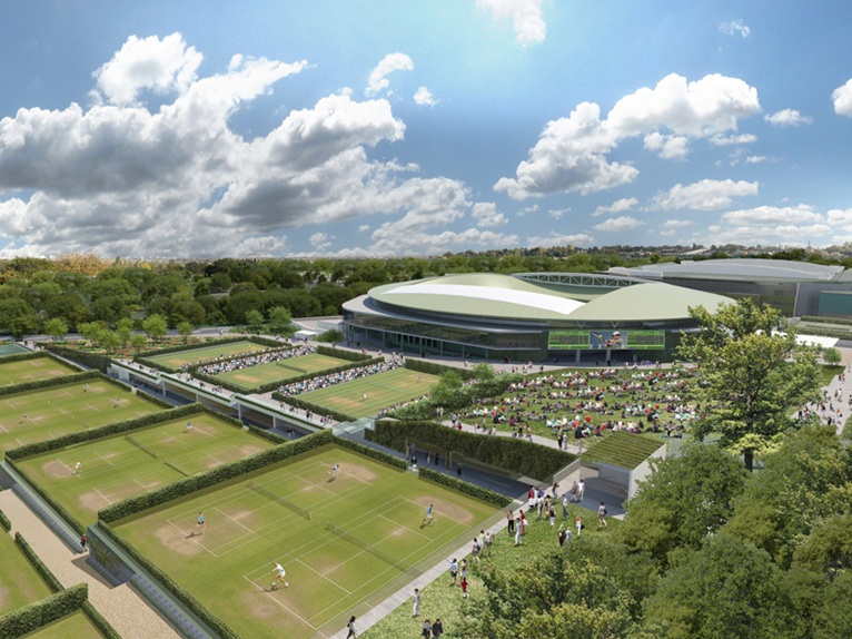 Grant associates adds to wimbledon master plan for Top landscape architecture firms