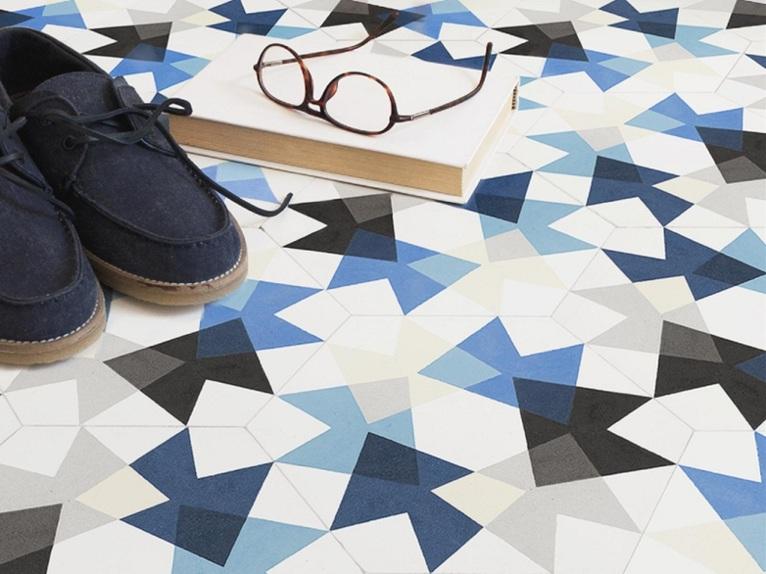 Mut atelier designed keidos tiles - Azulejos hexagonales ...