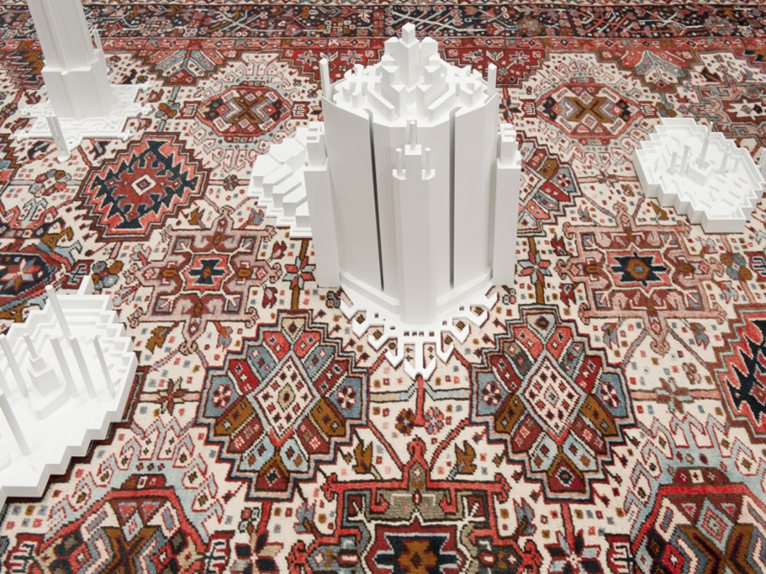 persian carpet template grounds for standing and understanding exhibition by babak golkar