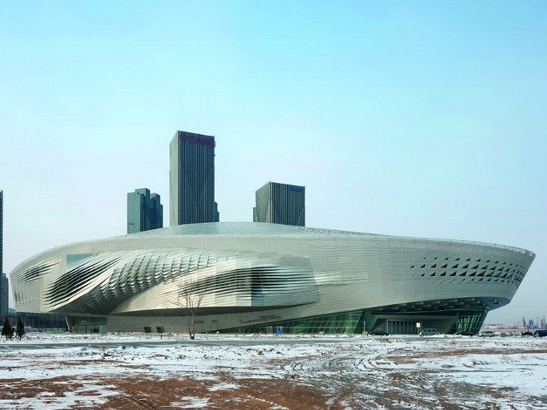 celine pouch clutch - Wolf Prix has completed the Dalian International Conference Center ...
