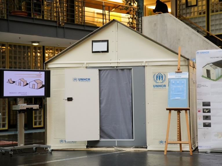 Temporary Living Shelters : Temporary housing for refugees camps by ikea foundation