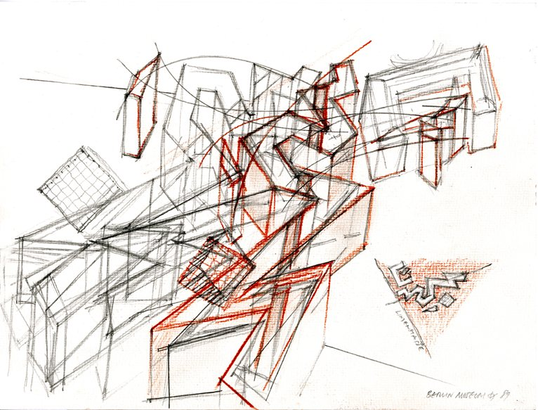 never say the eye is rigid architectural drawings of daniel libeskind