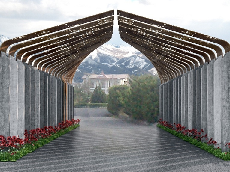 Trieste architects waltritsch a u wins a competition in iran for House gate design architecture