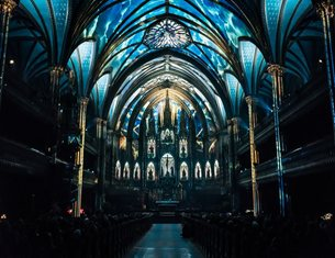 AURA, a luminous experience in the heart of Montreal's Notre-Dame Basilica