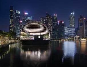 Apple Marina Bay Sands: a new gemstone celebrates light on Singapore waterfront