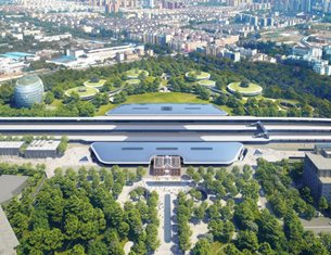 """MAD Unveils Jiaxing's """"Train Station in the Forest"""""""
