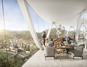 """Snøhetta envisions a """"New Home for Ötzi the Iceman"""""""